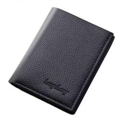 Smidig plånbok i syntetiskt läder - Svart Svart