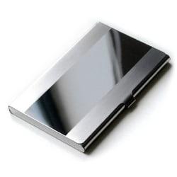 Slimmad korthållare i rostfritt stål - Silver