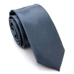 Smal / slimmad slips - Stålgrå Grå