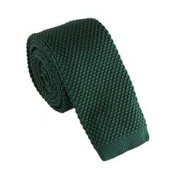 Smal stickad slips enfärgad - Olika färger Mörkgrön