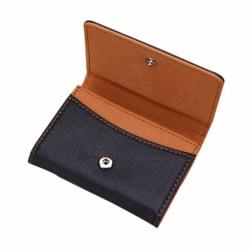 Smidig kortplånbok i svart konstläder - Flera färger Brun