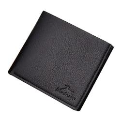 Stilren enkel plånbok i flera färger Svart