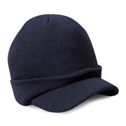 Tuff mössa / beanie med skärm - Olika färger Blå