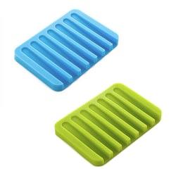 Tvålkopp i silikon med avrinning - Flera olika färger Vit