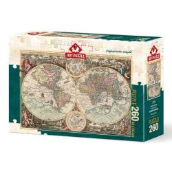Art Puzzle - Antik världskarta 260 bitar multifärg