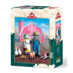 Art Puzzle - Kattens bondgård 260 bitar multifärg