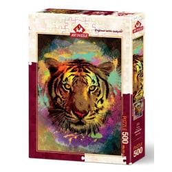 Art Puzzle - Tiger 500 bitar multifärg