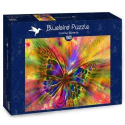 Bluebird Pussel - Färgglad Fjäril 1500 bitar multifärg