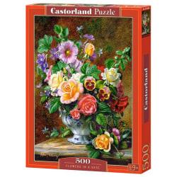 Castorland Blommor i vas 500 Bitars Pussel multifärg