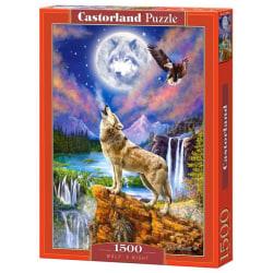 Castorland Pussel - Den majestätiska vargen, 1500 Bitar multifärg