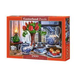 Castorland Pussel - Ett stillsamt liv med tulpaner, 1500 Bitar multifärg