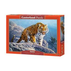 Castorland Pussel - Tigern på klippan 500 Bitar multifärg
