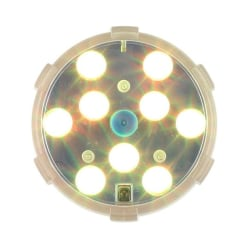 Finn-Lumor Poolbelysning 9 LED med fjärrkontroll Vit