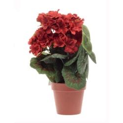 Konstgjord blomma Geranium Röd 33 cm