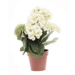 Konstgjord blomma Geranium Vit 33 cm Vit