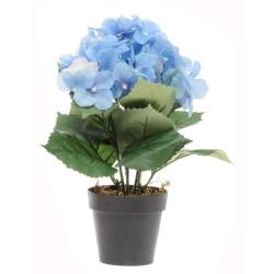 Konstgjord blomma Hydrangea Blå 33 cm