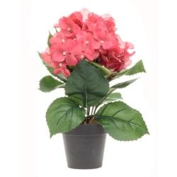 Konstgjord blomma Hydrangea Mörkrosa 33 cm