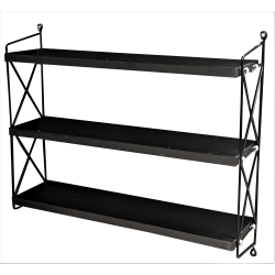 110 Shelf hylla med 3 hyllplan svart  390:- svart