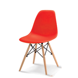 684 Barn stol formgjuten röd/natur röd