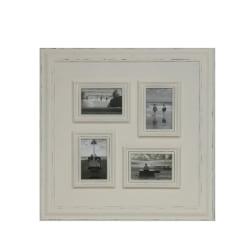 B329 Fotoram med plats för 4 foton vit vit