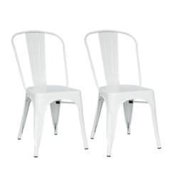 Plåt stol matt vit pris 2 styck