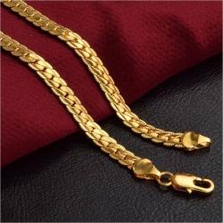 18K guldpläterad kedja perfekt gåva present valentines Guld one size