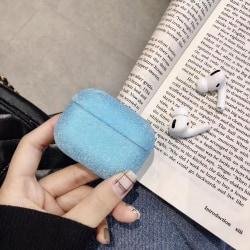 Glittrigt fodral för Airpods Pro bling bling  Blå one size