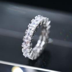 Handgjorda evighetsringar Zircon 925 silver ringar flera modell Silver one size