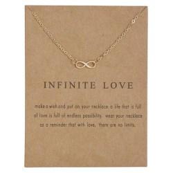Infinite love - halsband 18K guldpläterat gåva älskare Guld one size