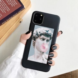 iPhone 12 & 12 Pro skal david staty michelangelo tuggummi Svart one size