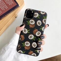 iPhone 12 & 12 Pro skal kokosnöt kokos tropisk Svart one size