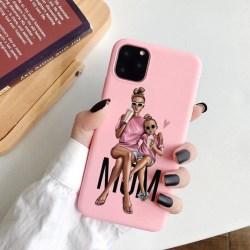 iPhone 12 & 12 Pro skal mamma dotter rosa söt gulligt  Rosa one size