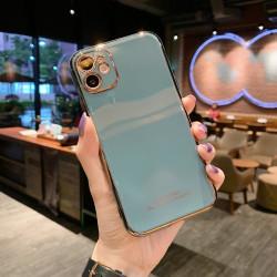 iPhone 12 Skal Laserutskuret stötdämpande i flera färger guld Blå one size