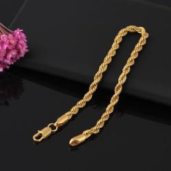 Lyxigt armband kedja i 18 karat guldplätering gåva Gold one size