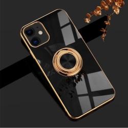 Lyxigt Stilrent skal iPhone 12 Pro Max med ring ställ-funktion G Black one size
