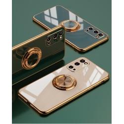 Samsung Galaxy S20 Plus Lyxigt Stilrent skal med ring ställ-funk LightPink one size