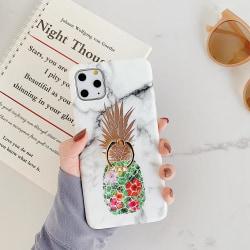 Marmorskal iPhone11 Pro Max + ananas + ring   Vit one size