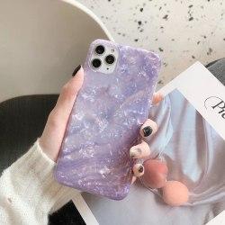 Mobilskal i artificiell pärlemor Lila one size