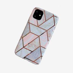 Mobilskal till iPhone 11 med marmormönster  Vit one size
