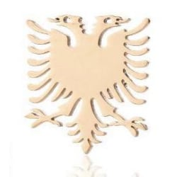 Örhängen med shenja e flamurit albansk örn guldpläterat Guld one size