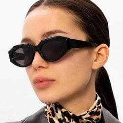 Retro solglasögon kvinnor årets hetaste trend flerfärgad Black one size