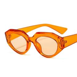 Retro solglasögon kvinnor årets hetaste trend orange Orange one size