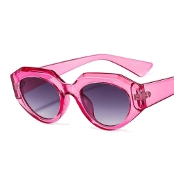 Retro solglasögon kvinnor årets hetaste trendrosa Rosa one size