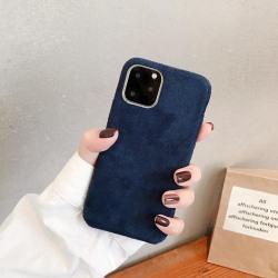 Skal till iPhone11 i lyxigt sammetsmaterial Blå one size