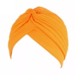 Turban i lyxiga färger wrap hår passar alla  Yellow one size