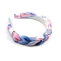Vackert flätat diadem i pastellfärger sommar  Blå one size