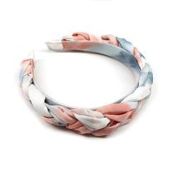Vackert flätat diadem i pastellfärger sommar  Rosa one size
