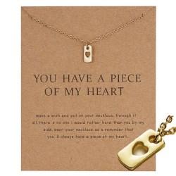 You have a piece of my heart - halsband 18K guldpläterat gåva Guld one size