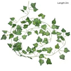 200cm Ivy Leaf Garland Green Plant Plastic Vine Foliage Home