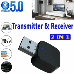 Bluetooth 5.0 Transmitter & Receiver 2in1 Wireless A2dp Audio 3.